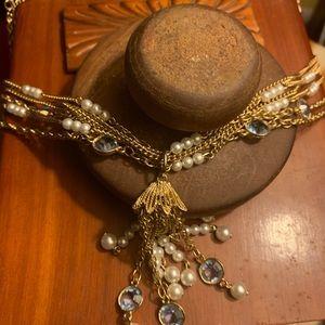 Vintage Stranded Gold Necklace